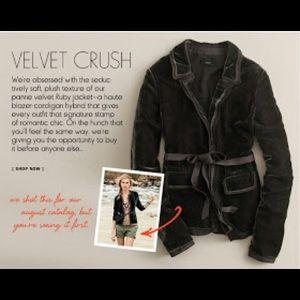 J. Crew Ruby Velvet Jacket